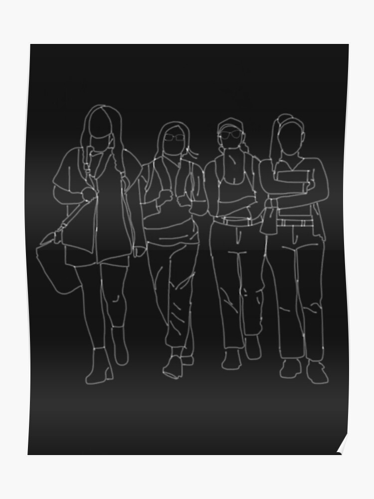 LITTLE MIX BLACK MAGIC OUTLINE | Poster