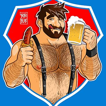 ADAM LIKES SAUSAGE AND BEER - RED BACKGROUND by bobobear