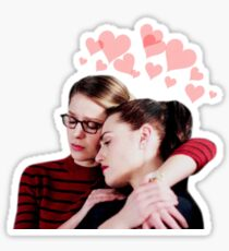 Supercorp Hearts Sticker