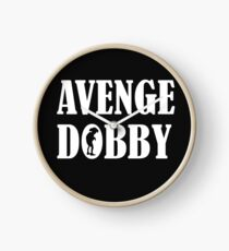 Avenge Dobby white Clock