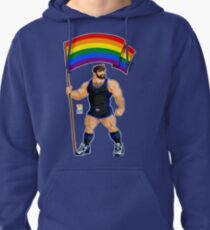 ADAM LIKES PRIDE FLAG - BLACK OUTFIT Pullover Hoodie