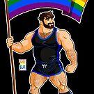 ADAM LIKES PRIDE FLAG - BLACK OUTFIT by bobobear