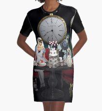 Alice In Wonderland Collage Graphic T-Shirt Dress