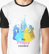No Prince Needed Inspired Silhouette Graphic T-Shirt