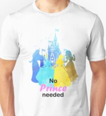 No Prince Needed Inspired Silhouette Unisex T-Shirt