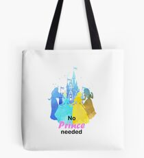 No Prince Needed Inspired Silhouette Tote Bag