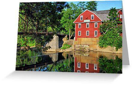 War Eagle Mill and Bridge, Arkansas by Gregory Ballos