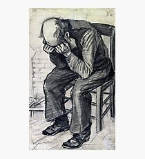 "Old Man with his Head in his Hands (""At Eternity's Gate"") van Gogh, 1882 Photographic Print"