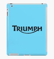 Triumph 05' Style Distressed - Black iPad Case/Skin