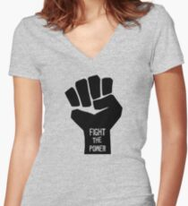 Public Enemy — Fight the power Women's Fitted V-Neck T-Shirt