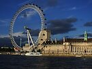 London Eye and County Hall by Themis