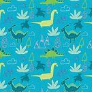 Dino Fun land Blue by susycosta