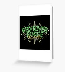 Red River Gorge Kentucky Greeting Card