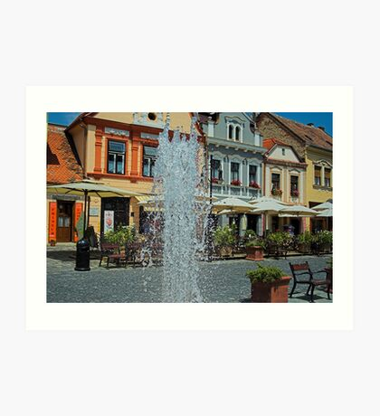 Fountain in Kőszeg Art Print