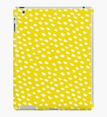 Brush Dot Pattern Yellow iPad Case/Skin