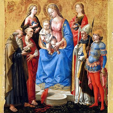 Pesellino (Francesco di Stefano) Madonna and Child with Six Saints by pdgraphics