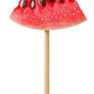 Watermelon snack on a skewer by 6hands