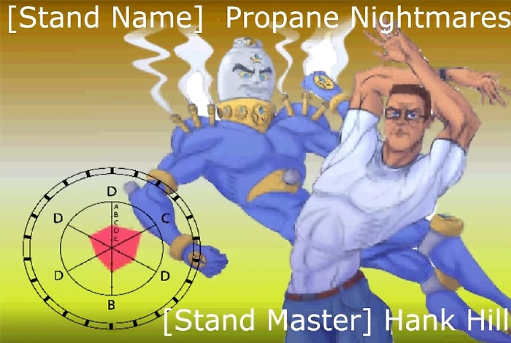 Hank Hill Stand: Propane Nightmare (JoJo x King of the Hill)\