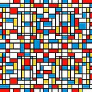 Mondrian design, abstract pattern by Jirka Svetlik