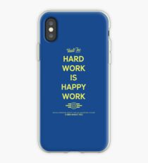 Hard Work is Happy Work iPhone Case