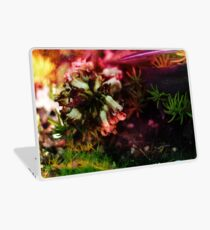 Psychedelic White Bell Flower Plant Laptop Skin