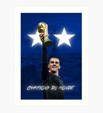 Lámina artística Antoine Griezmann - Francia - Campeones de la Copa Mundial 2018 - Champions Du Monde