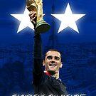«Antoine Griezmann - Francia - Campeones de la Copa Mundial 2018 - Champions Du Monde» de Conor Crosbie