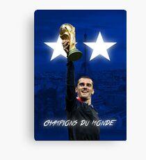 Antoine Griezmann - France - World Cup Champions 2018 - Champions Du Monde Canvas Print