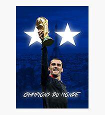 Lámina fotográfica Antoine Griezmann - Francia - Campeones de la Copa Mundial 2018 - Champions Du Monde