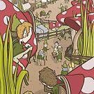 Mushroom village by Shawn Turek
