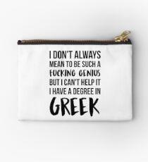 Greek Degree Genius Studio Pouch