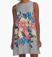 Floral Flare Travel A-Line Dress