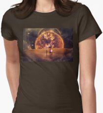 quasar teleportation Women's Fitted T-Shirt