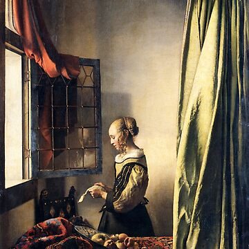 HD Girl Reading a Letter by an Open Window, by Johannes Vermeer HIGH DEFINITION by mindthecherry
