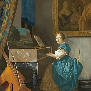 HD Lady Seated at a Virginal, by Johannes Vermeer HIGH DEFINITION by mindthecherry