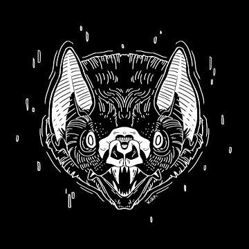 Bat Face - Black by flaroh