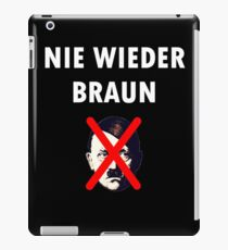 NEVER AGAIN BROWN iPad Case/Skin