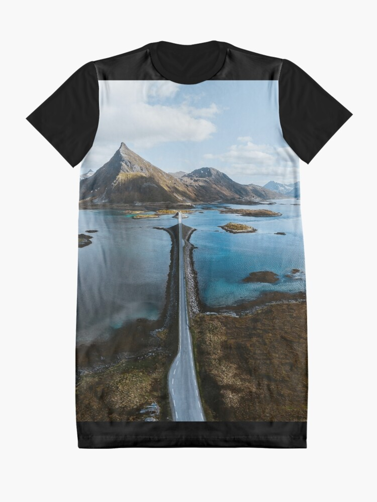 Alternate view of Lofoten Islands Graphic T-Shirt Dress