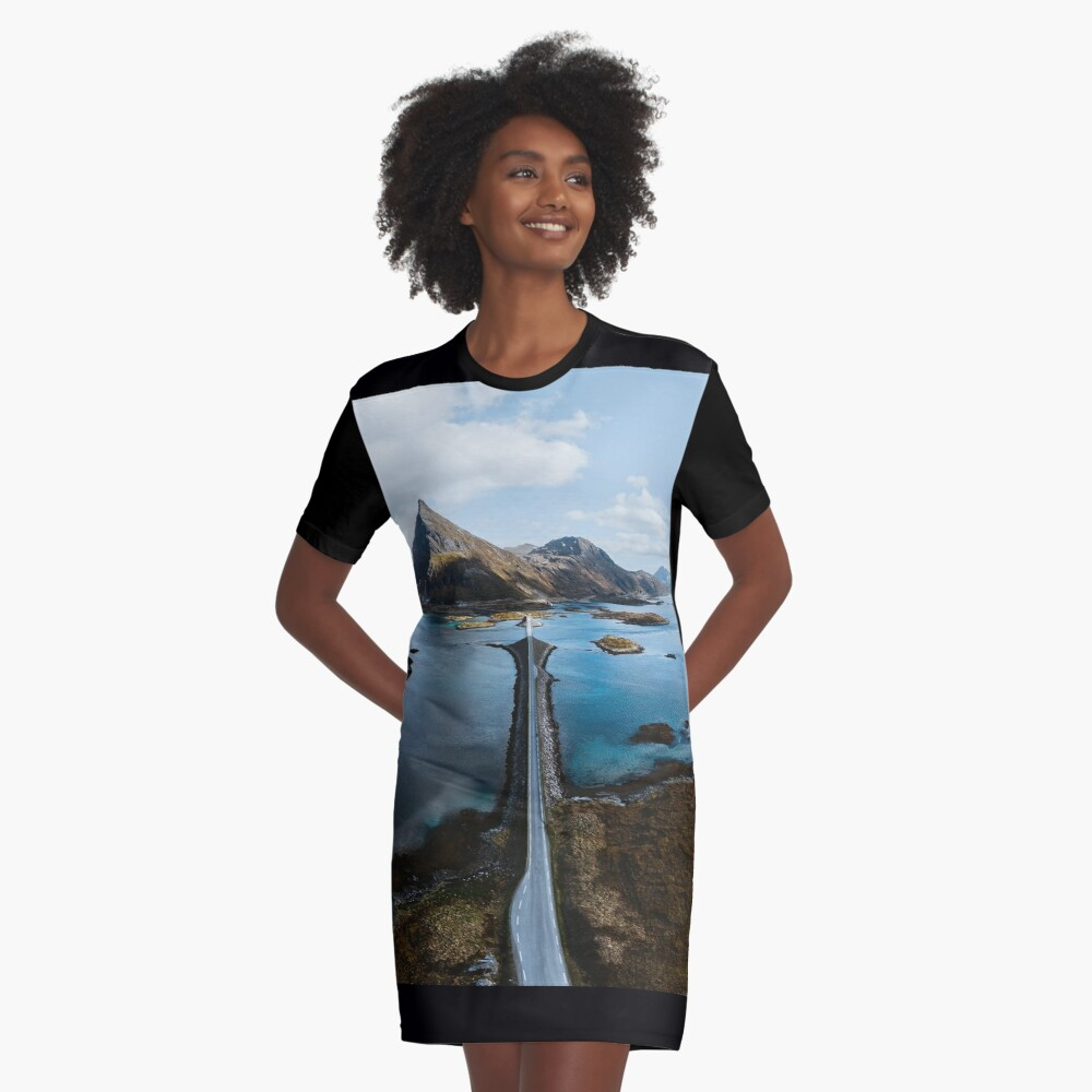 Lofoten Islands Graphic T-Shirt Dress