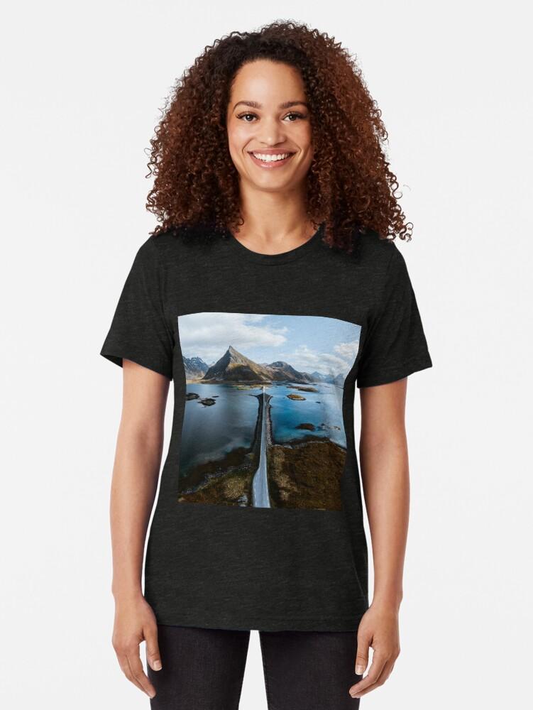 Alternate view of Lofoten Islands Tri-blend T-Shirt