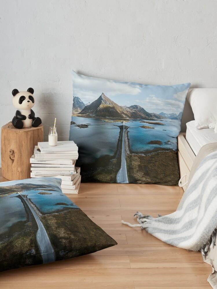Alternate view of Lofoten Islands Floor Pillow