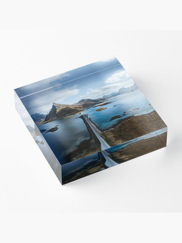 Bloc acrylique ''Lofoten Islands': autre vue