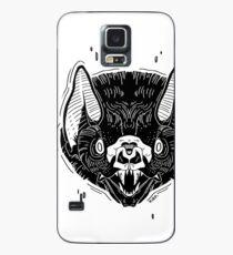 Bat Face -White Case/Skin for Samsung Galaxy
