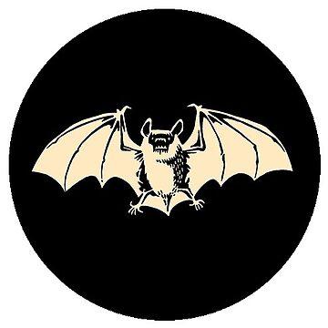 Goth Bat - Nocturnal Vampire logo by ThatBenWalker