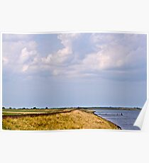 Dunes, sea and sky, Poster