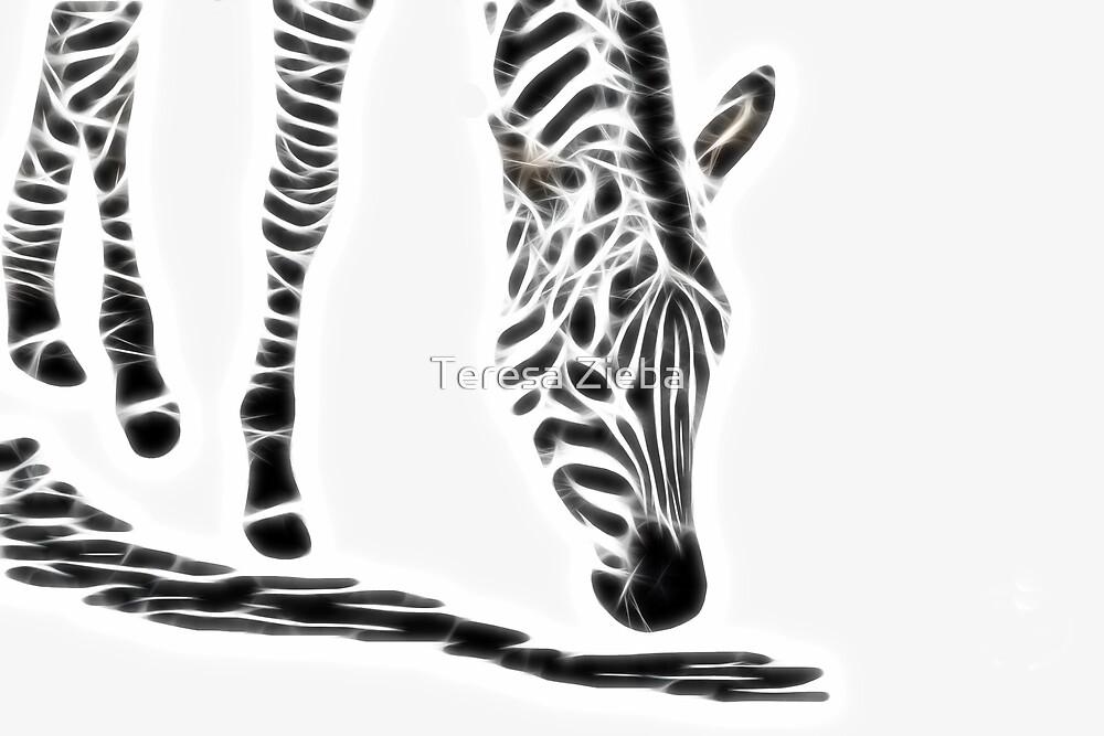 Fractal Zebra by Teresa Zieba
