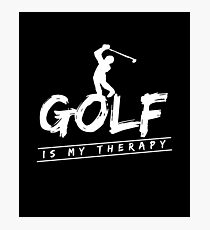 Golf is My Therapy Golfing Relaxation Golf Course T-Shirt Photographic Print
