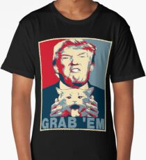 Trump Grab Em Poster Long T-Shirt