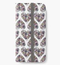 Blumen, Vögel & ein Herz iPhone Flip-Case/Hülle/Klebefolie