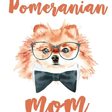 Pomeranian Dog Mom Watercolor Design by studio-gj